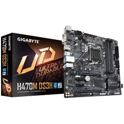 Gigabyte H470M DS3H Motherboard Intel H470 Express LGA 1200 micro ATX